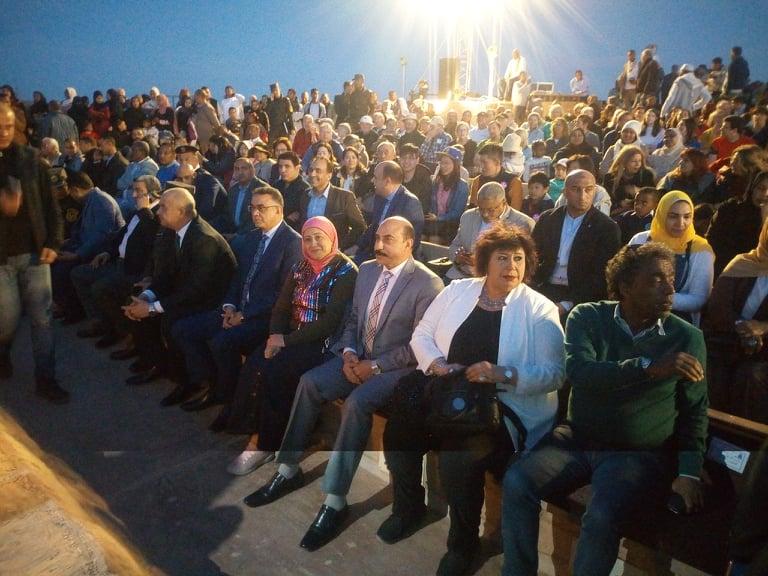 وزيرة الثقافة وعدد من المسئولين