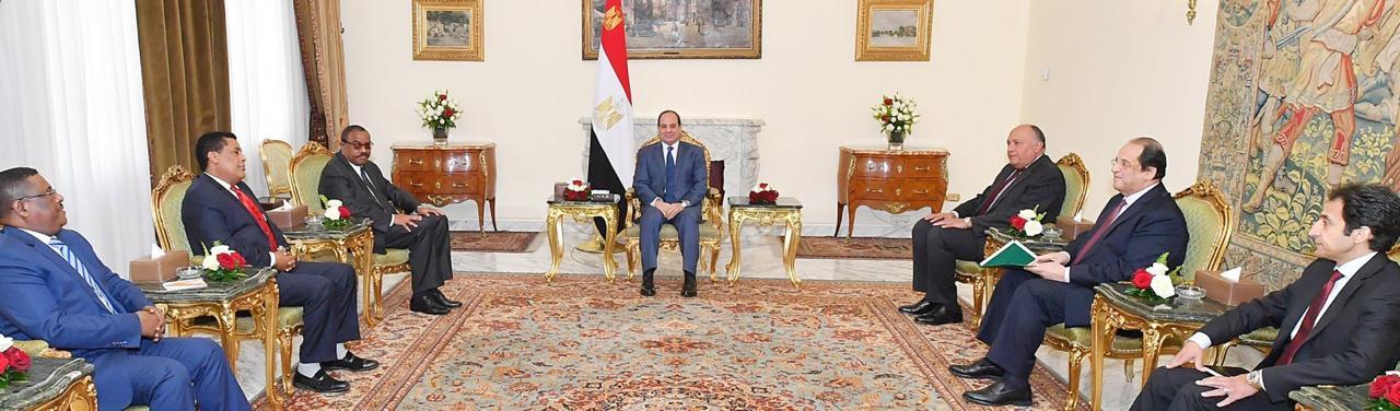 الرئيس عبد الفتاح السيسى و رئيس الوزراء الأثيوبى  (1)