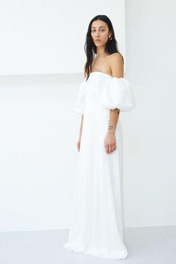 فستان زفاف من ألياف طبيعية