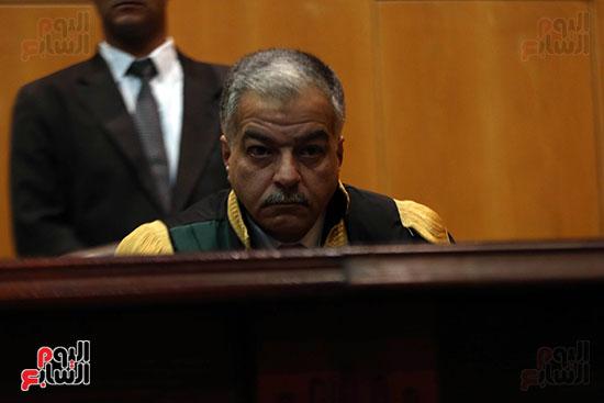 جانب من هيئة محكمة جنايات القاهرة