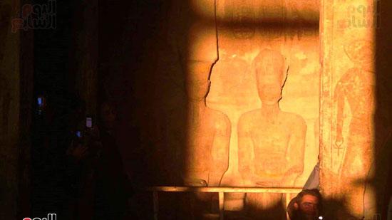 لحظة تعامد الشمس على معبد ابو سمبل