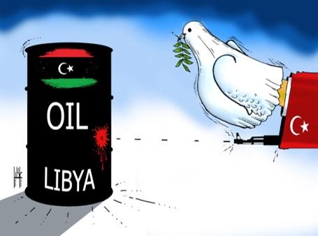 تركيا تحاول سرقة بترول ليبيا باسم السلام