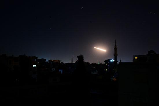 الدفاع الجوى السورى يتصدى لأهداف معادية