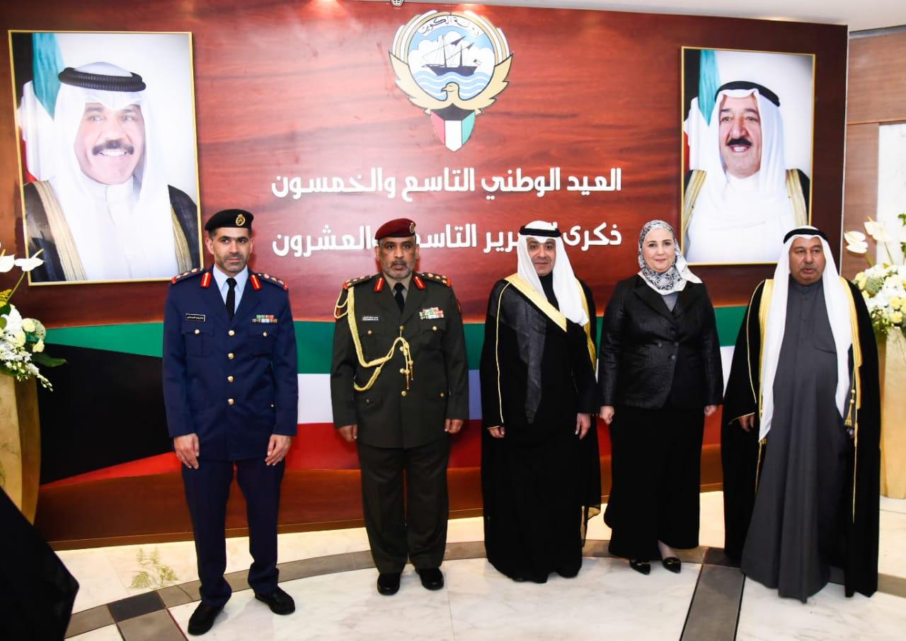 وزيرة التضامن خلال احتفال سفارة دولة الكويت بالقاهرة (1)