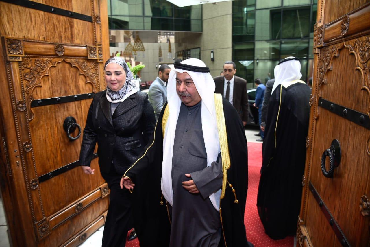 وزيرة التضامن خلال احتفال سفارة دولة الكويت بالقاهرة (3)