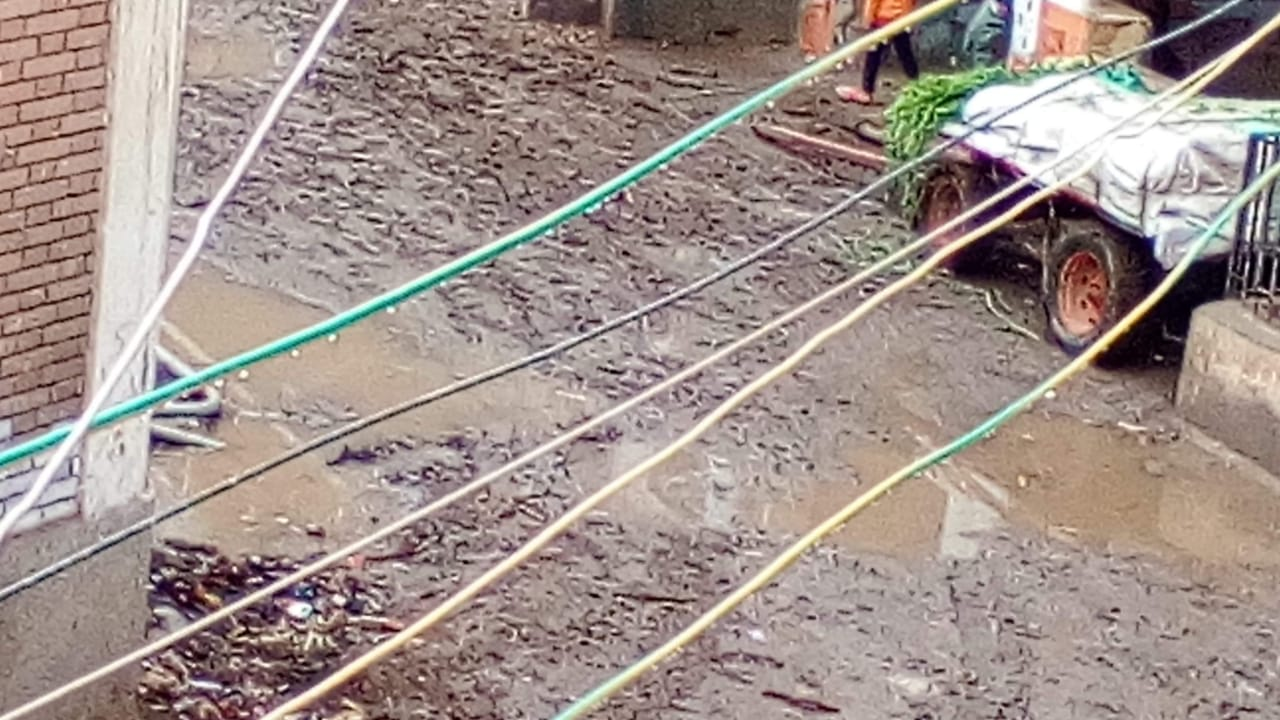 غرق شوارع القليوبية بمياه الأمطار (5)