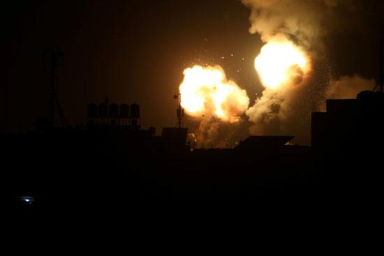 الانفجارات فى غزة