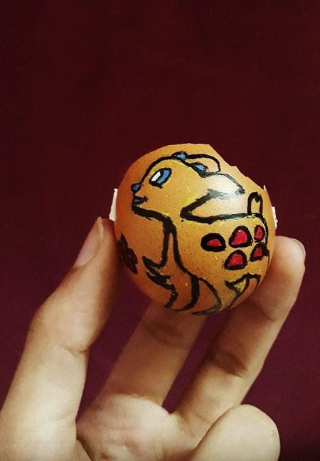 الرسم على قشر البيض