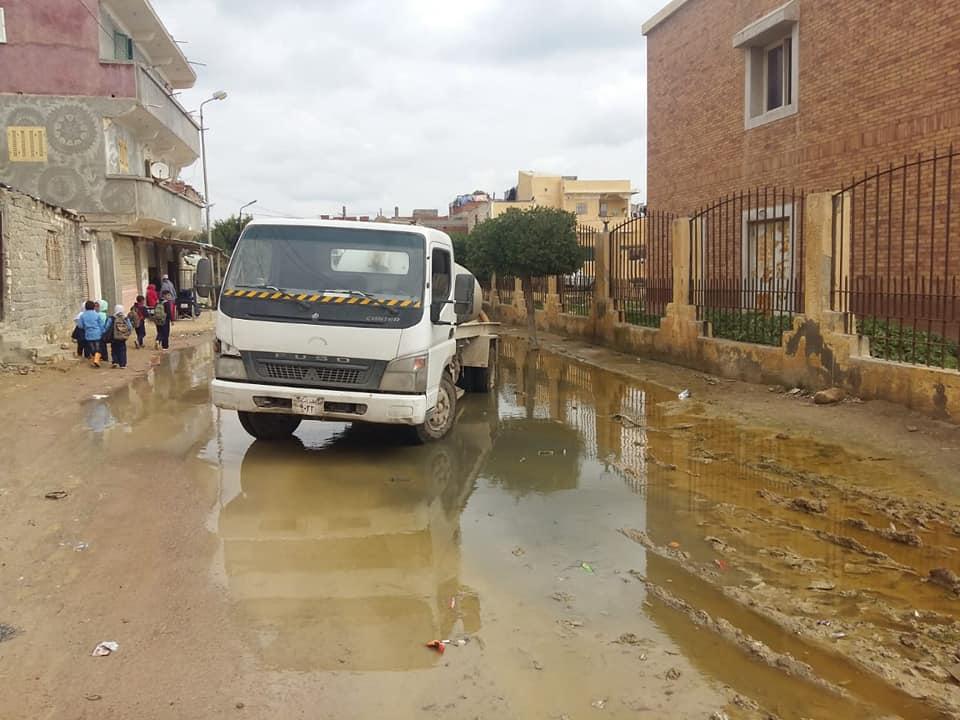 شفط تراكمات مياه الامطار