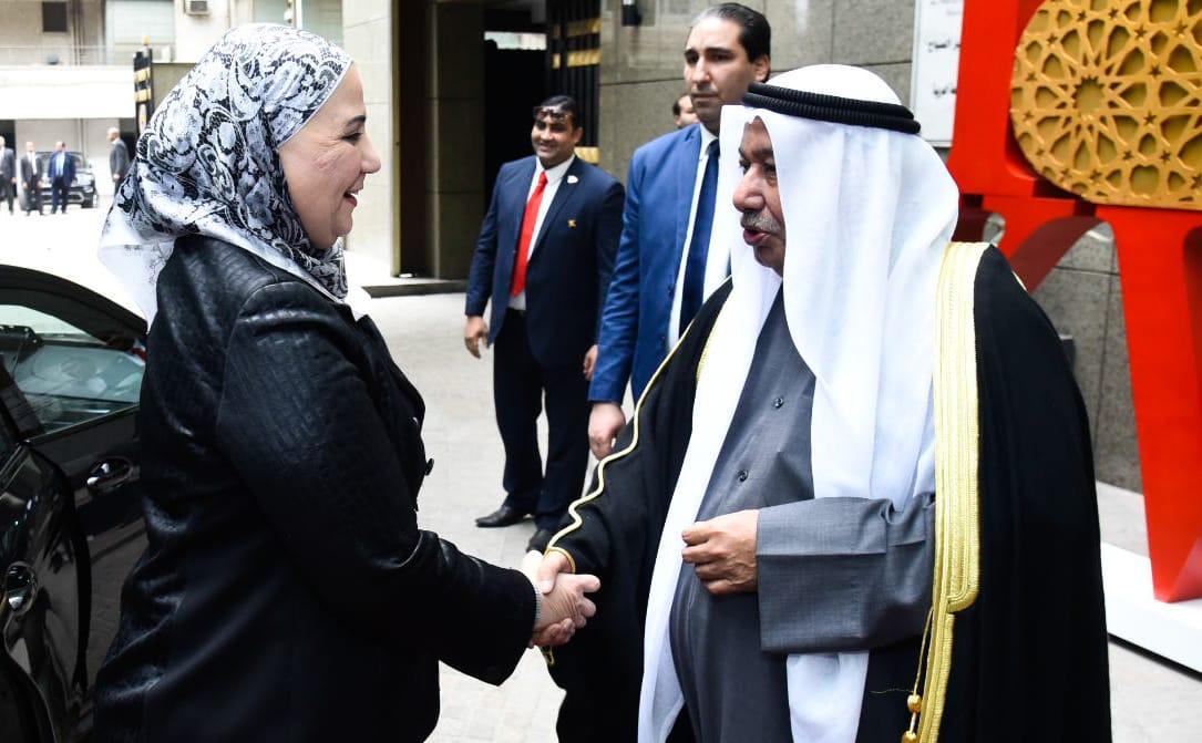 وزيرة التضامن خلال احتفال سفارة دولة الكويت بالقاهرة (2)
