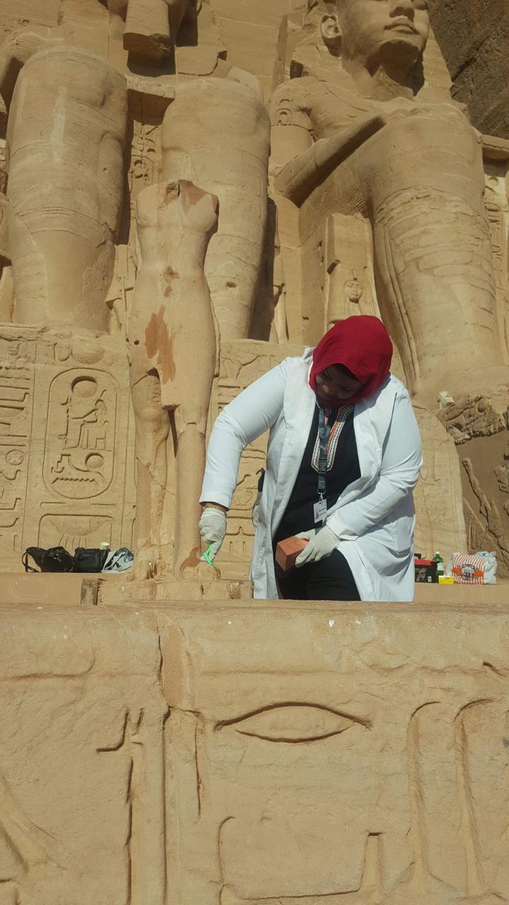 الآثار تنتهى من أعمال تطوير وترميم بمعبد أبوسمبل (3)