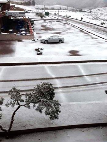 الثلوج تغطى مدينة سانت كاترين (2)