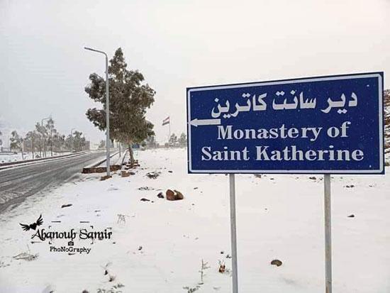 الثلوج تغطى مدينة سانت كاترين (4)