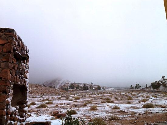 الثلوج تغطى مدينة سانت كاترين (7)