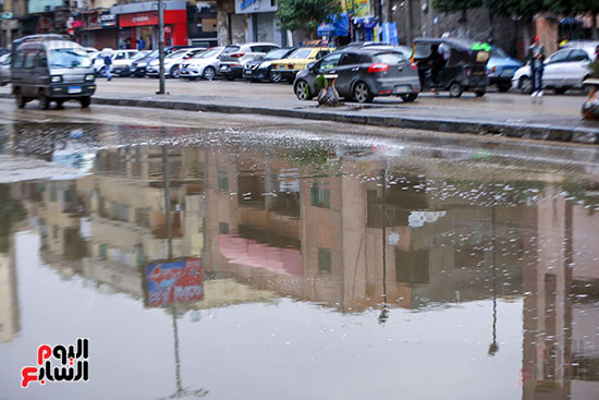اثار الأمطار فى القاهرة والجيزة