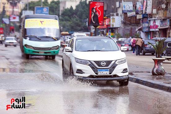 اثار مياه الأمطار فى الشوارع