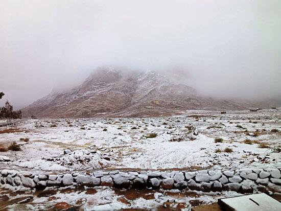 الثلوج تغطى مدينة سانت كاترين (8)
