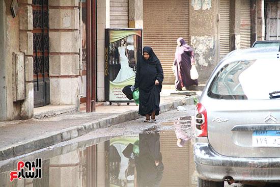 اثار مياه الأمطار فى الشوارع (1)