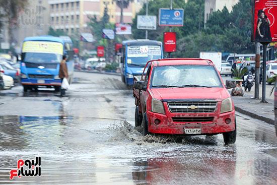 تراكم مياه الأمطار فى الشوارع