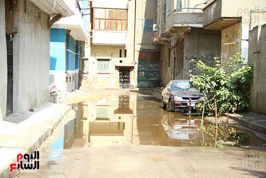 اثار مياه الأمطار فى الشوارع (2)