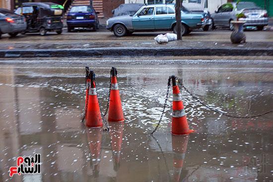 ارتفاع منسوب مياه الأمطار