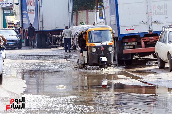 مياه الأمطار فى الشوارع