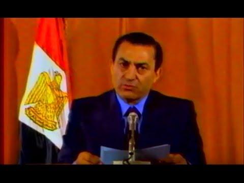 مبارك يلقى كلمة فى أعقاب تمرد الأمن المركزى