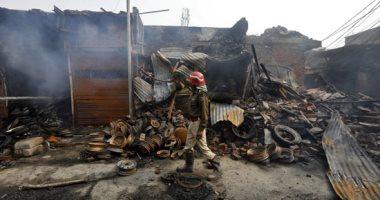 أثار الاشتباكات بشوارع الهند