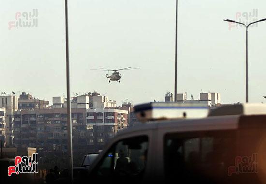 طائرة جثمان الرئيس الأسبق مبارك (8)