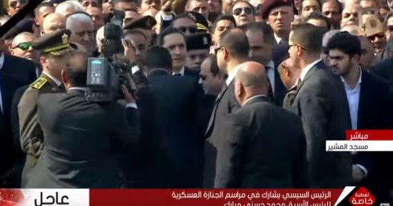 السيسى يعزي جمال مبارك