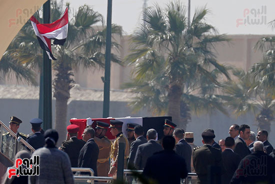 الجنازة العسكرية لمبارك