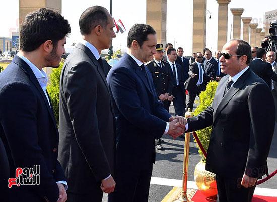 الرئيس السيسى يعزى أسرة مبارك