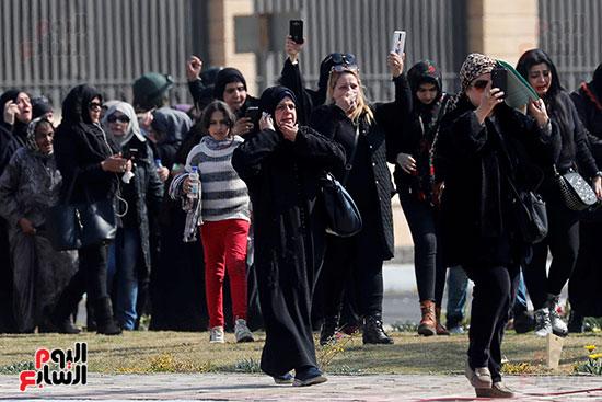 أنصار مبارك فى الجنازة