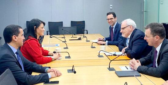 الدكتورة رانيا المشاط وزيرة التعاون الدولى تلتقى رئيس مؤسسة التمويل الدولية (3)