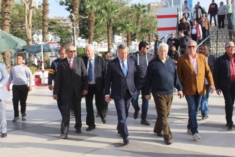 وفد من الترجى التونسي فى زيارة لنادى الزمالك