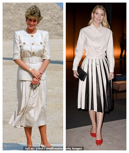 Princess Diana and Lady Kitty with a classic look