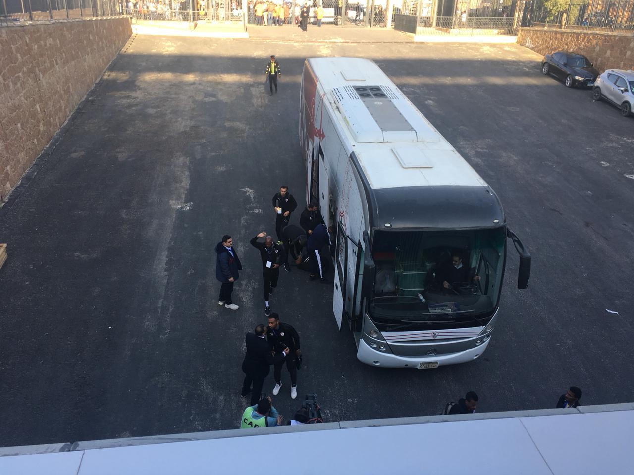 وصول حافلة الزمالك