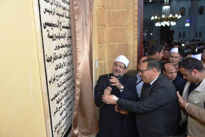 وزير الأوقااااف يفتتح  المسجد ابراهيم عبد الرحمن      2