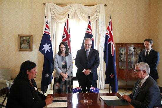 رئيس-وزراء-أستراليا-ونظيرته-النيوزلندية-يشهدان-توقيع-اتفاقات