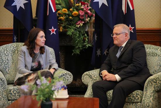 جاسيندا-أرديرن-فى-لقاء-مع-رئيس-الوزراء-الأسترالى