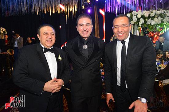خالد صلاح رئيس تحرير اليوم السابع ورجل الأعمال إيهاب طلعت