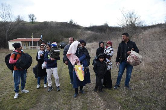 مجموعة من المهاجرين