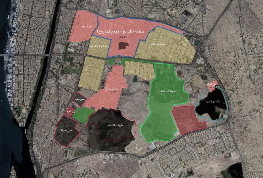 مخطط تطوير سور مجرى العيون والخرائط التفصيلية