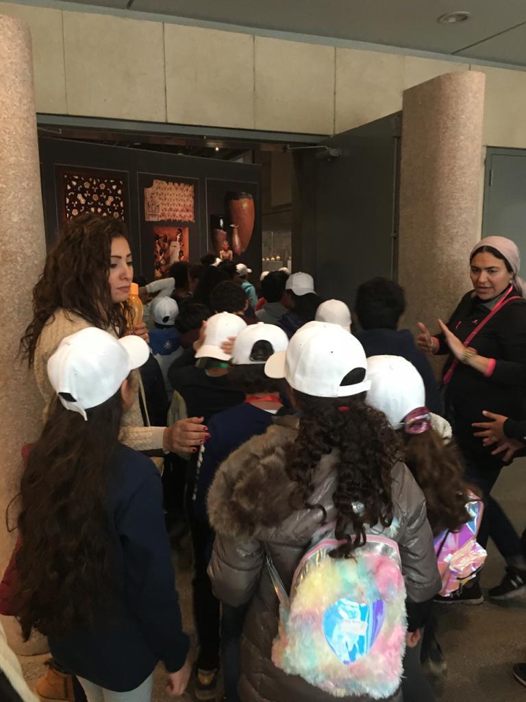 المتحف القومى للحضارة المصرية يستقبل طلاب مدرستين بالقاهرة (5)
