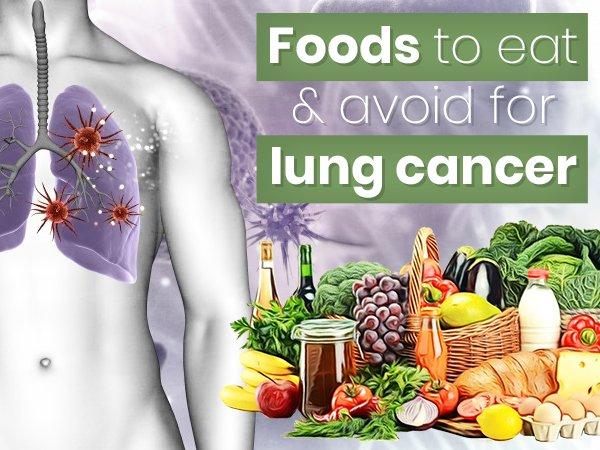 اطعمة احرص عليها او تجنبها لسرطان الرئة