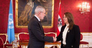 رئيس جمهورية النمسا يستقبل غادة والى