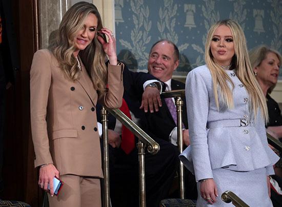 ابنة زوجة الرئيس ترامب لارا وابنتها تيفاني