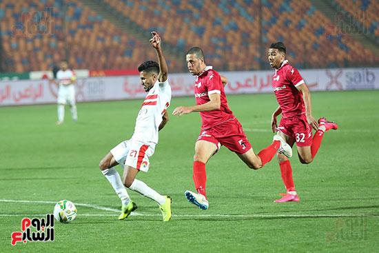 المغربى محمد أوناجم في مباراة حرس الحدود