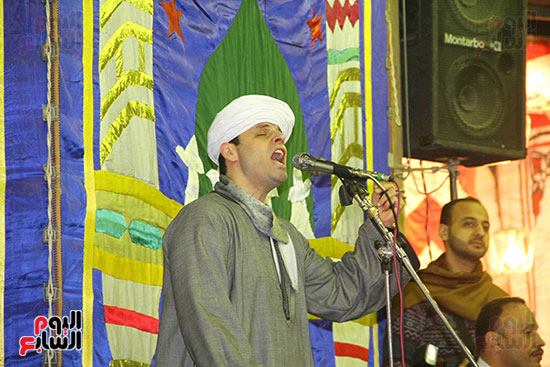 الشيخ محمود ياسين التهامى في الليلة الختامية لمولد السيدة نفيسة