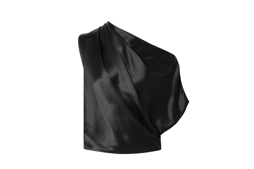 بلوزة ساتان أسود